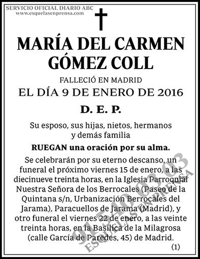 María del Carmen Gómez Coll